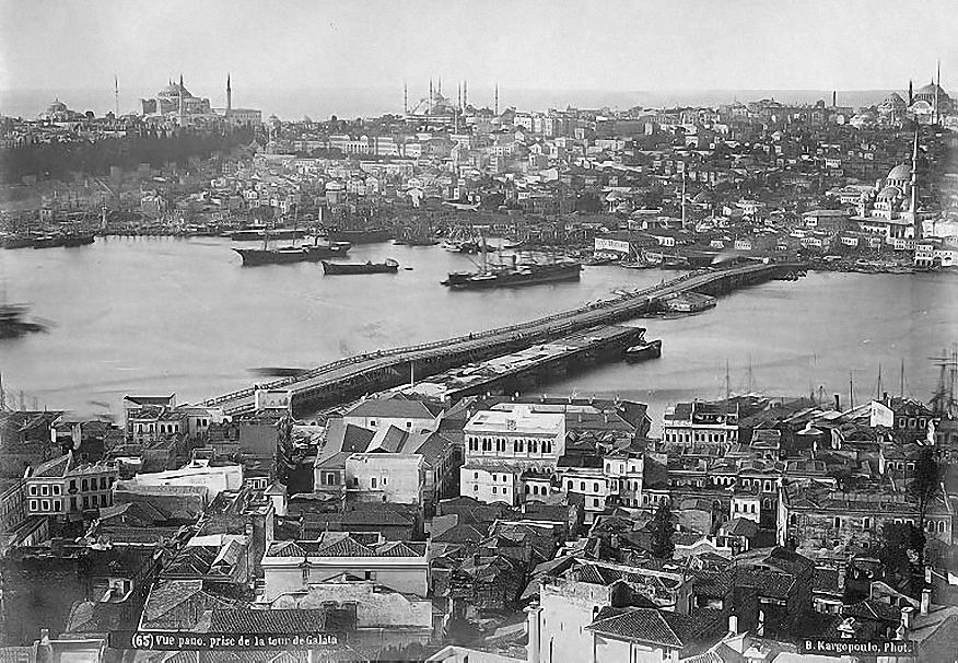Ansicht auf Galata Brücke, 1870