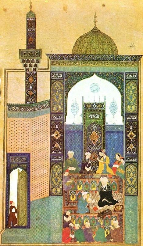 Leyla und Mecnun in der Schule, 1461