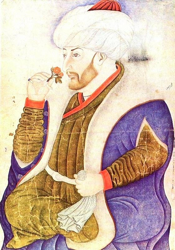 Portrait von Fatih Sultan Mehmet, Sinan Bey, 1475