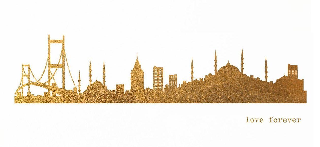 ISTANBUL Skyline Druck Handmade von 44spaces