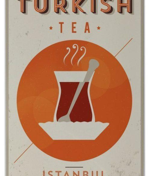 Retro Wandkachel Türkischer Tee